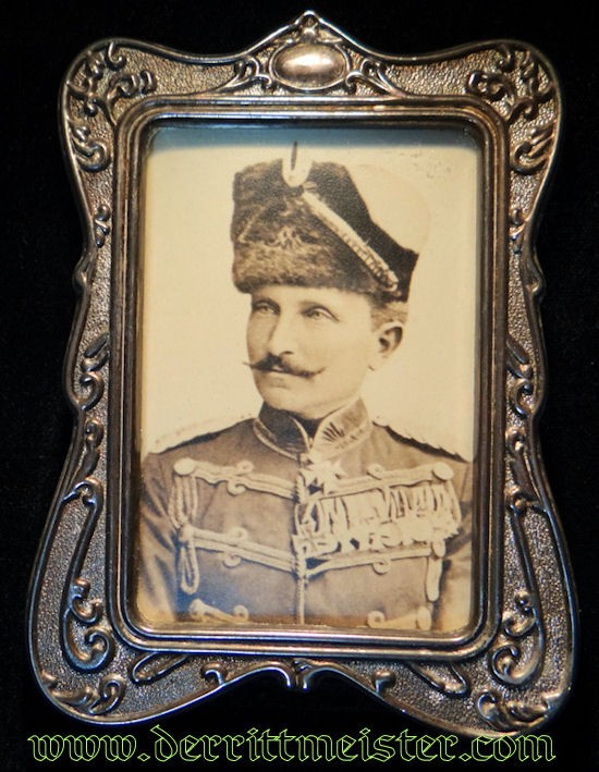 FRAMED PHOTOGRAPH OF HUSAREN-REGIMENT Nr 7 COMMANDER - PRUSSIA - Imperial German Military Antiques Sale