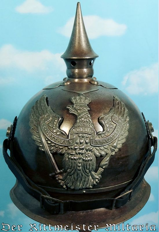 ENLISTED MAN'S WARTIME ISSUE (M-1915) JÄGER-REGIMENT zu PFERDE HELMET - Imperial German Military Antiques Sale