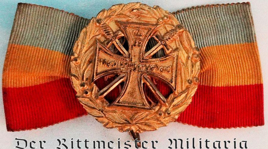 MECKLENBURG-SCHWERIN  - VETERANS' ASSOCIATION BADGE - Imperial German Military Antiques Sale
