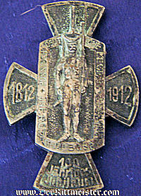 VETERAN'S BADGE  - INFANTERIE- REGIMENT Nr 31 - COMMEMORATING 100th ANNIVERSARY - Imperial German Military Antiques Sale