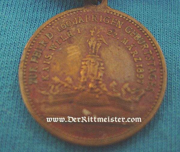 PATRIOTIC MEDAL - KAISER WILHELM I - Imperial German Military Antiques Sale