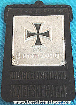 PLAQUETTE - PARTICIPANT'S OF A  YOUNG PERSON'S REGATTA - Imperial German Military Antiques Sale