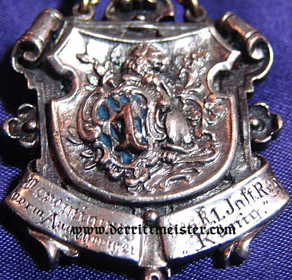 BAVARIA -  VETERAN'S BADGE - INFANTERIE-REGIMENT Nr 1 - Imperial German Military Antiques Sale
