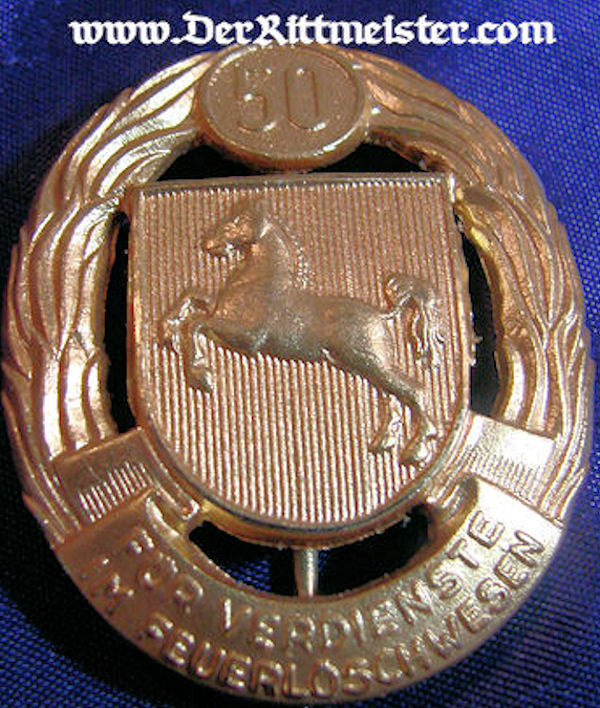 HANNOVER/BRAUNSCHWEIG - 50-YEARS LONG SERVICE AWARD - FIREMAN - Imperial German Military Antiques Sale