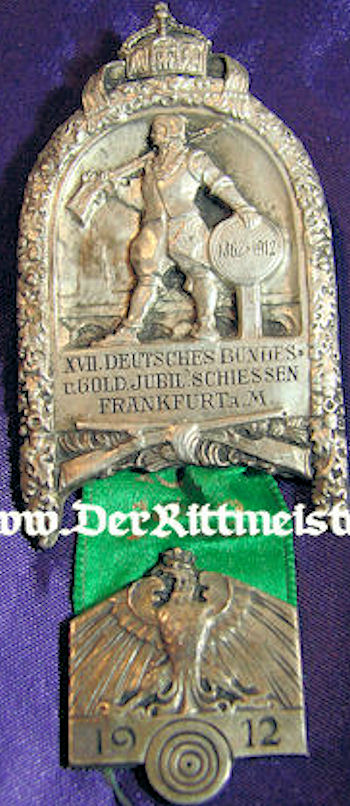 FRANKFURT - SHOOTING BADGE - Imperial German Military Antiques Sale