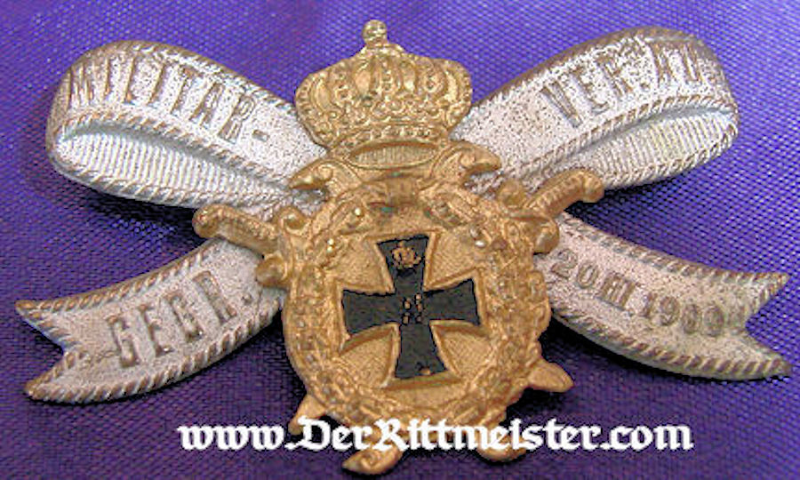VETERAN'S ASSOCIATION PIN - Imperial German Military Antiques Sale