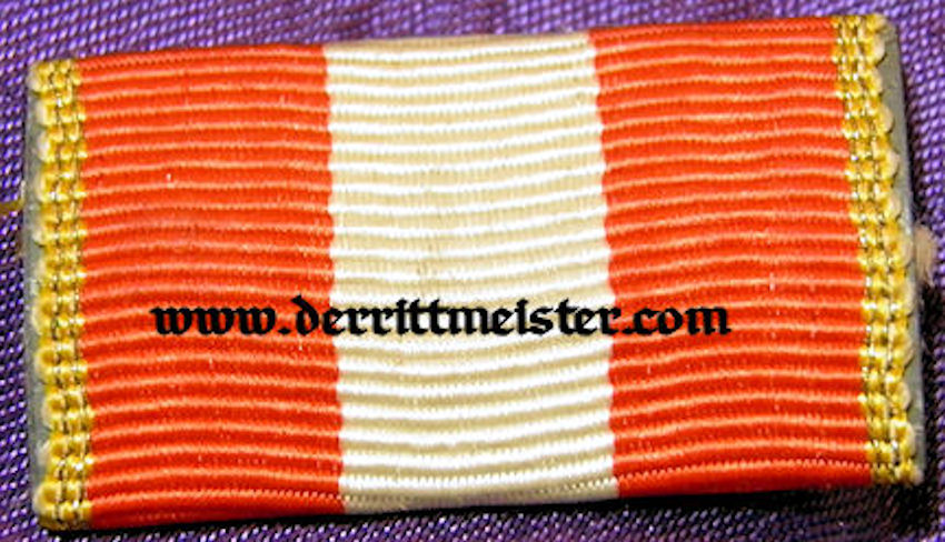 HAMBURG - RIBBON BAR -ONE-PLACE - HANSEATIC CROSS - Imperial German Military Antiques Sale
