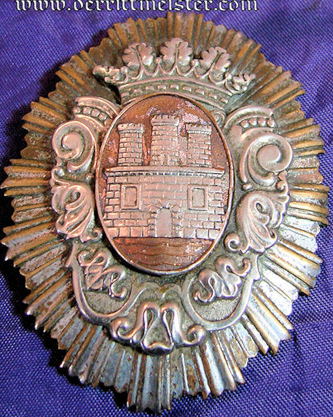 HAMBURG - BADGE - FREE STATE - OVERSIZED - Imperial German Military Antiques Sale