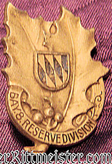 BAVARIA - VETERAN'S BADGE - 8. RESERVE-DIVISION - Imperial German Military Antiques Sale