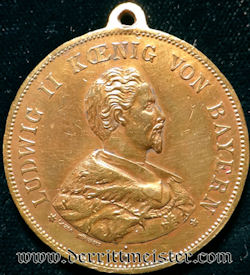 BAVARIA - COMMEMORATIVE MEDAL - KÖNIG LUDWIG II - Imperial German Military Antiques Sale