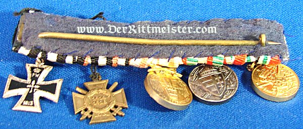 MEDAL BAR - FIVE-PLACE - MINIATURE - Imperial German Military Antiques Sale