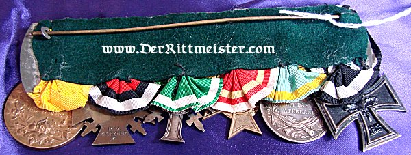 MEDAL BAR - SIX PLACE - Imperial German Military Antiques Sale