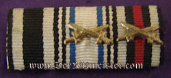 RIBBON BAR - THREE PLACE - Imperial German Military Antiques Sale