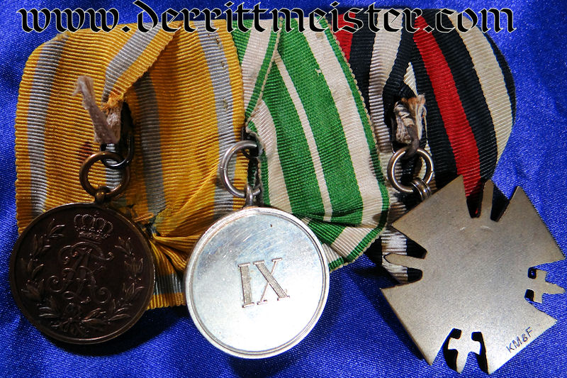 MEDAL BAR - THREE PLACE - Imperial German Military Antiques Sale