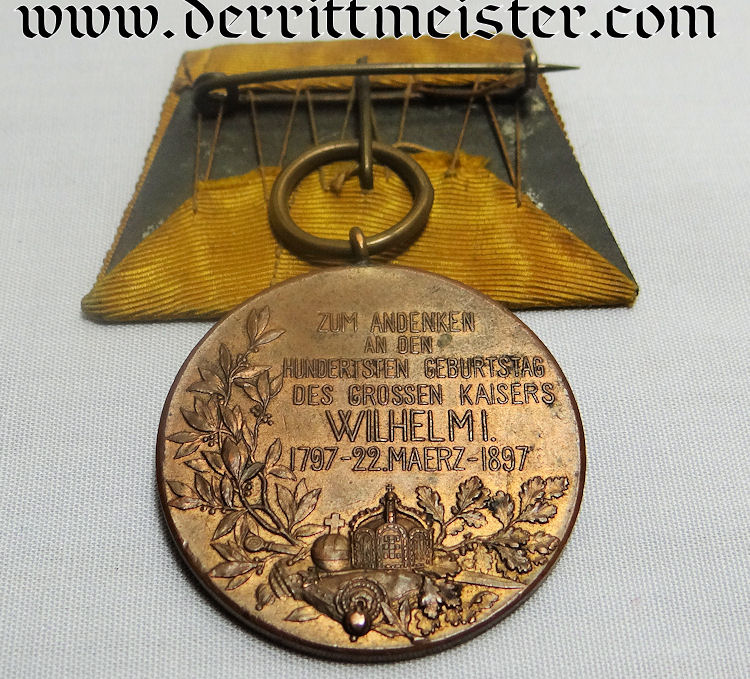 MEDAL BAR - ONE PLACE - KAISER WILHELM I CENTENNIAL - Imperial German Military Antiques Sale