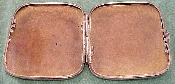 CIGARETTE CASE - commemorating Weihnachten (Christmas) 1916 - Imperial German Military Antiques Sale