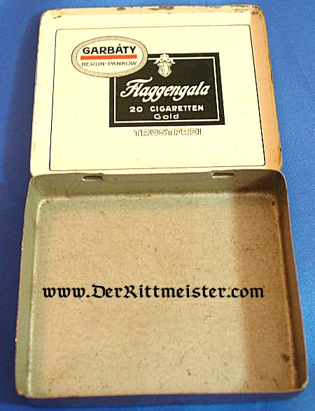 """CIGARETTE TIN - brand """"The Duke of Edinbourgh Flaggengala"""" - Imperial German Military Antiques Sale"""