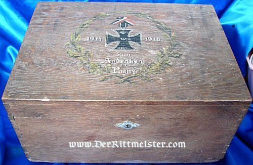 WOODEN BOX COMMEMORATING BATTLE OF PAGNY - Imperial German Military Antiques Sale