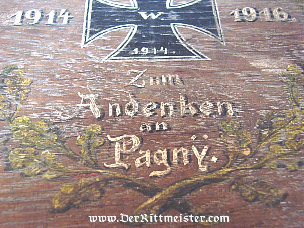 PATRIOTIC BOX - COMMEMORATING BATTLE OF PAGNY - Imperial German Military Antiques Sale