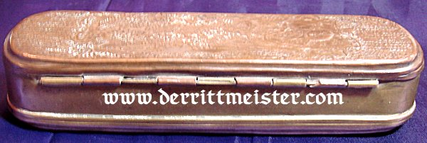 METAL TOBACCO BOX - FREDERICK THE GREAT'S TIME - Imperial German Military Antiques Sale