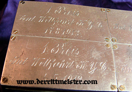 STORAGE BOX - KAISERLICHER YACHT CLUB PRIZE PLAQUES - Imperial German Military Antiques Sale