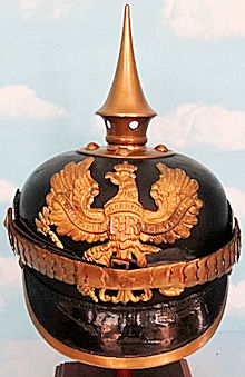 PRUSSIAN INFANTERIE REGIMENT NCO'S PICKELHAUBE - Imperial German Military Antiques Sale