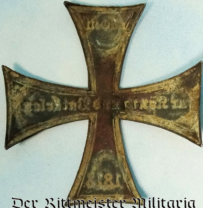 WAPPEN - PRUSSIA - CROSS FOR RESERVE OFFICER'S PICKELHAUBE, KUGELHELM, ETC. - Imperial German Military Antiques Sale