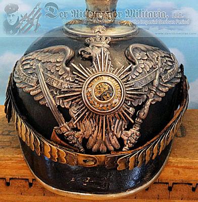 PRUSSIA - PICKELHAUBE - OFFICER -1. GARDE REGIMENT zu FUß - ATTRIBUTED TO PRINZ ADALBERT. - Imperial German Military Antiques Sale