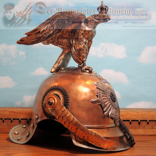 PRUSSIA - PICKELHAUBE - ENLISTED MAN'S  - REGIMENT der GARDE du CORPS - IN FULL PARADE CONFIGURATION - Imperial German Military Antiques Sale