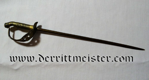 MINIATURE M-1889 IOD PRUSSIAN OFFICER'S SWORD - Imperial German Military Antiques Sale