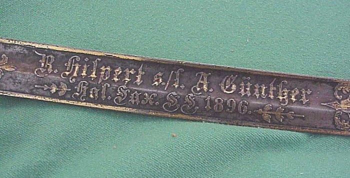 PRESENTATION ARTILLERY LIONSHEAD SWORD - Imperial German Military Antiques Sale