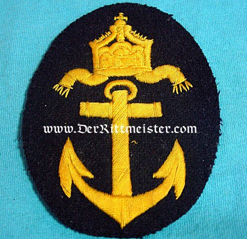 NAVY OBER-SCHREISBERSMAAT'S WINTER TUNIC RATING PATCH - Imperial German Military Antiques Sale