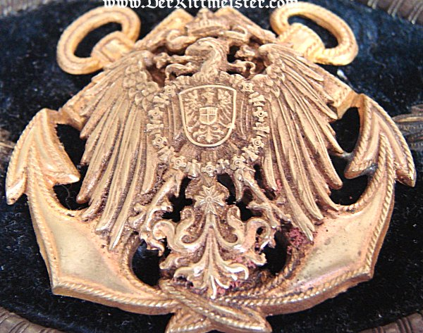 SINGLE EPAULETTE FOR A KAPITÄNLEUTNANT IN CHARGE OF STORES ABOARD A NAVAL VESSEL - Imperial German Military Antiques Sale
