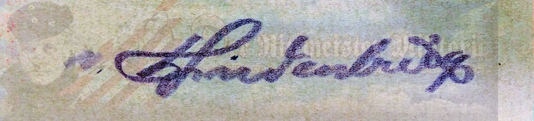 GENERALFELDMARSCHALL PAUL von HINDENBURG'S CLIPPED SIGNATURE - Imperial German Military Antiques Sale