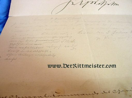 DOCUMENT FOR A YOUNG LEUTNANT - SIGNED BY KING FRIEDRICH WILHELM IV - PRUSSIA - Imperial German Military Antiques Sale