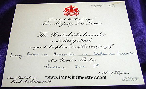 Autographed party invitation celebrating queen elizabeth ii of great autographed party invitation celebrating queen elizabeth ii of great britains birthday autographed by prinzessin stopboris Gallery
