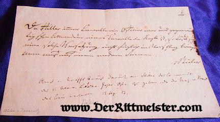 AUTOGRAPHED LETTER - GENERAL der INFANTERIE FRIEDRICH WILHELM GRAF von BÜLOW DENNEWITZ - Imperial German Military Antiques Sale