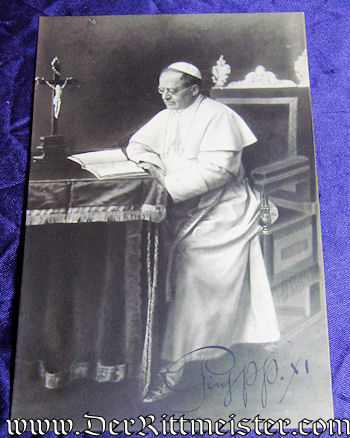 AUTOGRAPHED POSTCARD - POP PIUS XI - Imperial German Military Antiques Sale