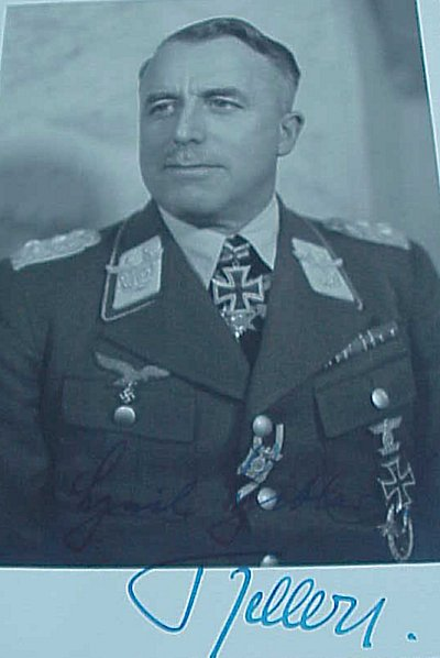 SIGNED ORIGINAL WW II PHOTOGRAPH AND TRANSMITTAL LETTER OF ALFRED KELLER - Imperial German Military Antiques Sale