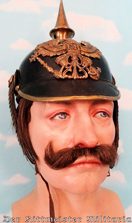 LIFE-SIZED KAISER WILHELM II BUST - Imperial German Military Antiques Sale