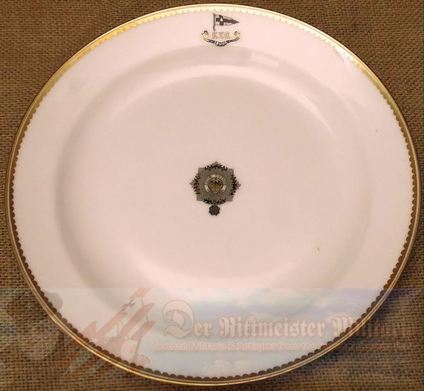 SALAD PLATE FROM KAISER WILHELM II'S KAISERLICHER YACHT CLUB (KYC) RACING SLOOP S. M. Y. IDUNA - Imperial German Military Antiques Sale