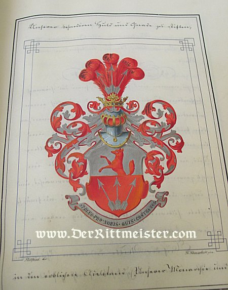 KNIGHTHOOD PRESENTATION DOCUMENT SET FROM KAISER WILHELM I'S ERA - PRUSSIA - Imperial German Military Antiques Sale