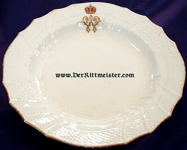 BREAD/DESSERT PLATE - PERSONAL TABLEWARE - KRONPRINZ WILHELM - 1916 - Imperial German Military Antiques Sale