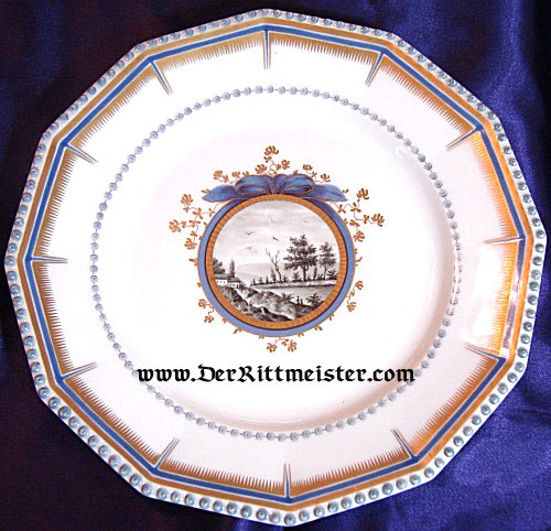 SALAD/DESSERT PLATE - SCHLOß NYMPHENBURG - KÖNIG LUDWIG III - BAVARIA - Imperial German Military Antiques Sale