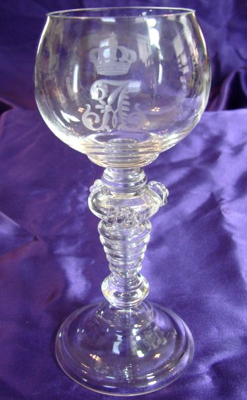 WINE GOBLET - PRINZ ADALBERT - PRUSSIA - Imperial German Military Antiques Sale