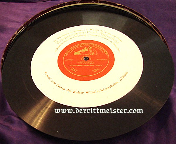 DELUXE COMMEMORATIVE 78 RECORD SET - 25th ANNIVERSARY - KAISER WILHELM II'S ASCENSION -THRONE - Imperial German Military Antiques Sale