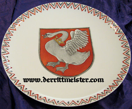DINNER PLATE - S. M. Y. IDUNA - Imperial German Military Antiques Sale