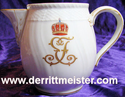 COFFEE/TEA CREAMER - PERSONAL TABLE SERVICE - PRINZ EITEL FRIEDRICH - PRUSSIA - Imperial German Military Antiques Sale