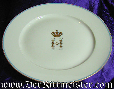 DINNER PLATE - PRINZ HEINRICH OF PRUSSIA'S PERSONAL SERVICE - Imperial German Military Antiques Sale