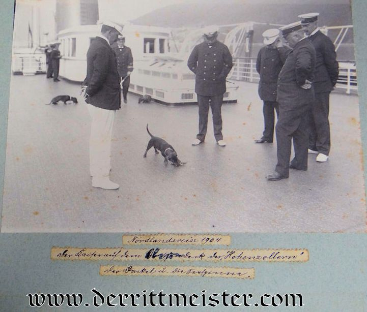 PHOTO ALBUM: KAISER WILHELM II AND KAISERIN AUGUSTA VIKTORIA ONBOARD VARIOUS NAVY SHIPS INCLUDING S.M.Y. HOHENZOLLERN, S.M.S. KAISER WILHELM II, AND S.M.Y. IDUNA - Imperial German Military Antiques Sale